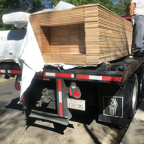 Delivering hardwood flooring in Los Angeles