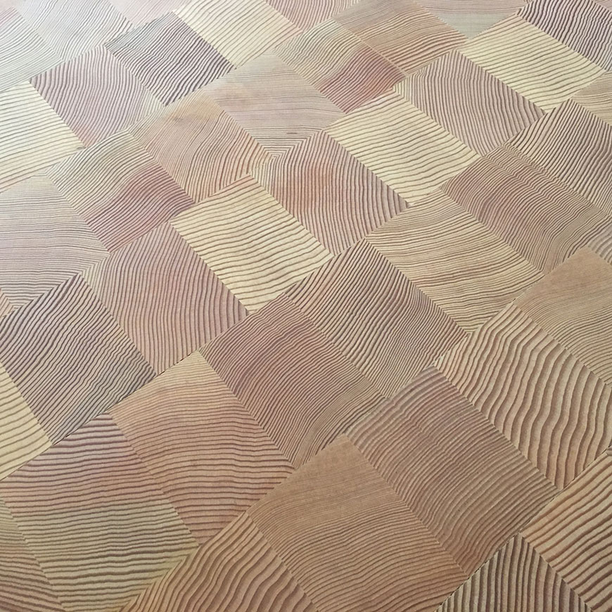 End Grain Douglas Fir finished with WOCA oil