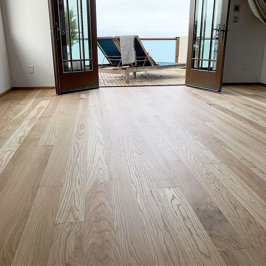 Malibu White Oak hardwood floors