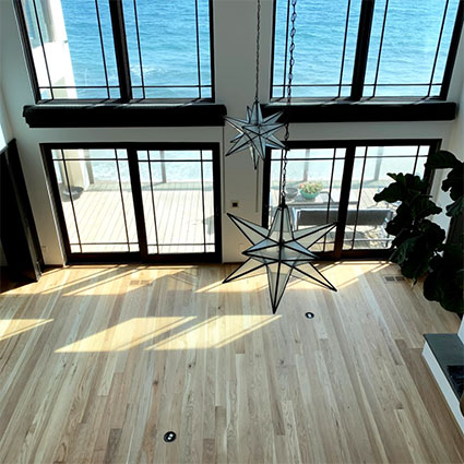 Malibu beach house wood floor