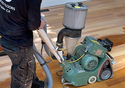 dustless hardwood floor sanding in Los Angeles