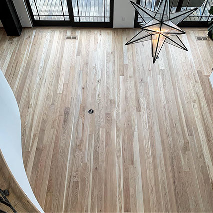 White Oak floors finished with Loba Invisible