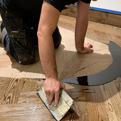 Changing color of a hardwood floor