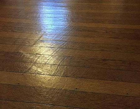 Cheap sanding job ruined floor