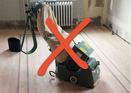 old dusty way to sand floors