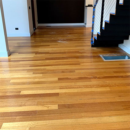 worn Sapele floor